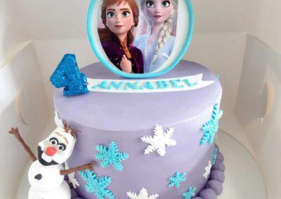 Purple Frozen Cake