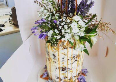Tall Foilage Cake