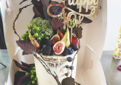 Fig and Foilage Cake
